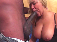 Drilling his huge cock into her ass.