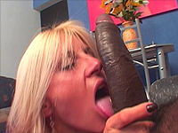 Great black monster cock in her throat.